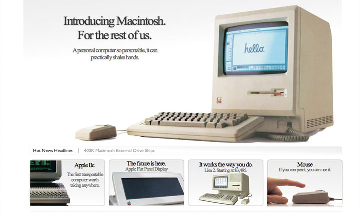 Apple 1984 homepage