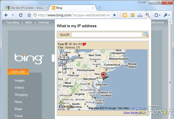 Track the fraudsters I.P address