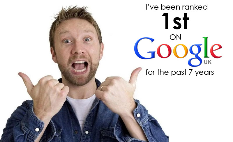 Ranked 1st on Google.co.uk for 7 years